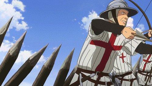 純潔のマリアとかいうイギリス長弓兵の射撃姿勢が正しすぎるアニメ これには弓道警察もにっこり