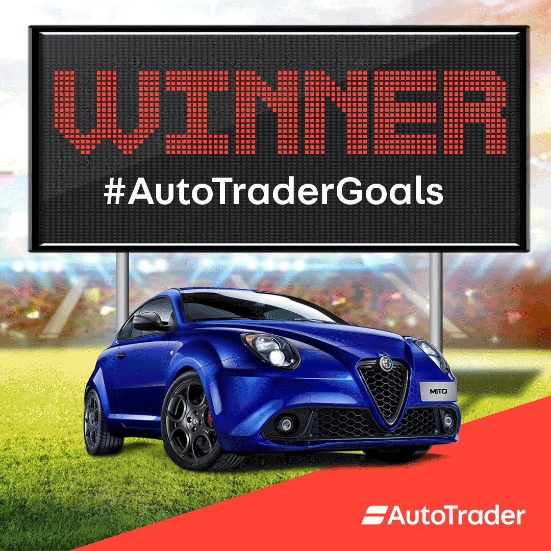 The first #AutoTraderGoals winner of the brand new Alfa Romeo MiTo has been notified. Check your inbox!