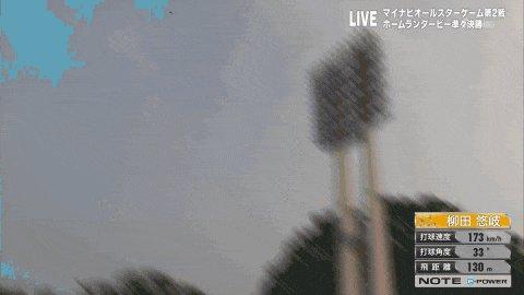 柳田の打球でフェンス直撃するおじさん #オールスターゲーム