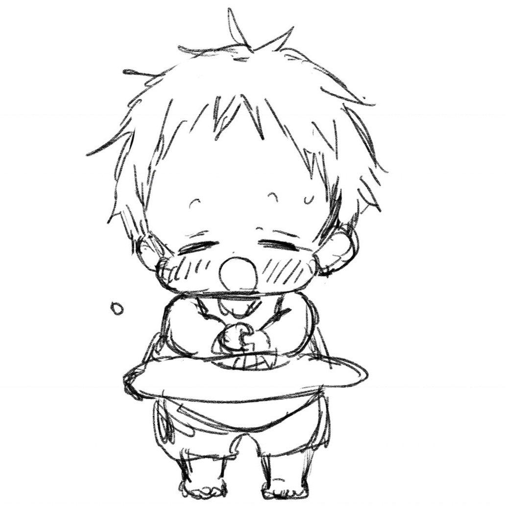 虎太郎がうちわで扇いでくれてるつもりの落書きです。 暑さが続くようなので、皆さん熱中症など気をつけてくださいね。
