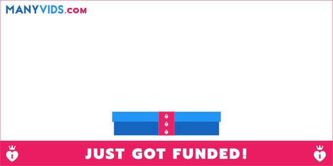 Got funded! Closer to my goal! https://t.co/9p6SpzPi8G #ManyVids https://t.co/FN4FCLjp85