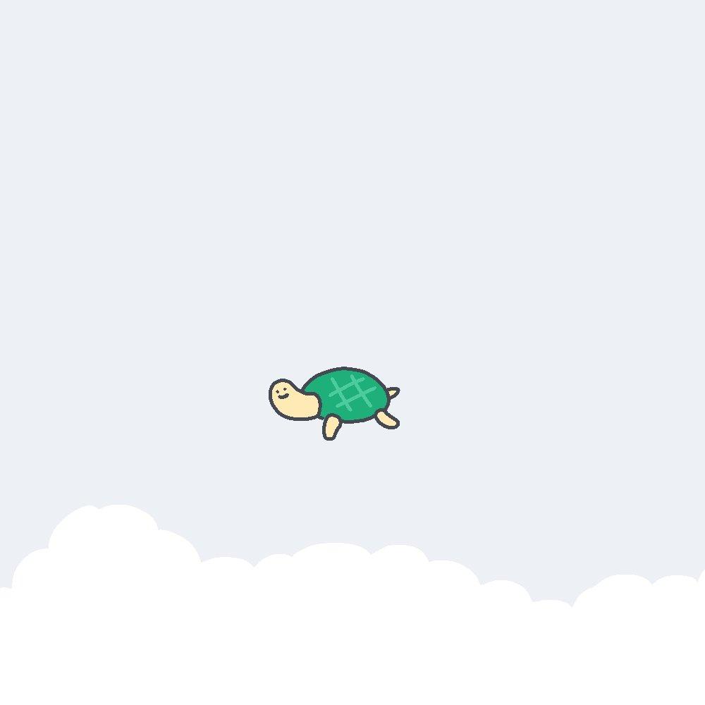 гифки черепаха целует рыбку
