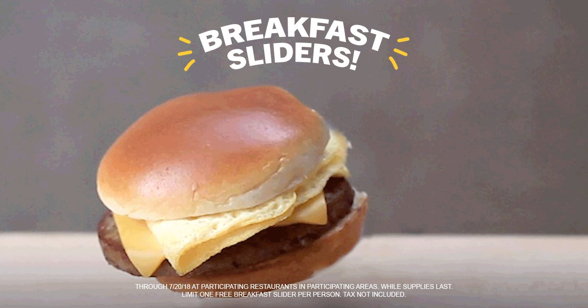 hardees on twitter our new breakfast sliders are here to celebrate we re giving out free breakfast sliders tomorrow from 6 7am in the 3 earliest rising cities in hardee s land does your city riseandslide our new breakfast sliders are here