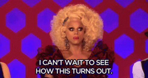 Have my ma watching #DragRace