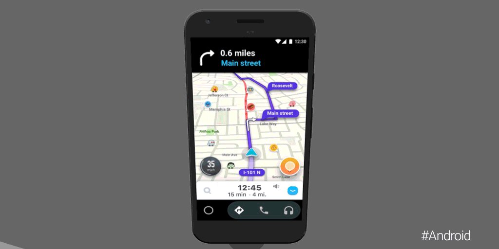Any which @waze you look at it, outsmarting traffic just got easier. Now #Waze is available on the #AndroidAuto app. Access it from anywhere and from any 🚗: goo.gl/TLU1V2