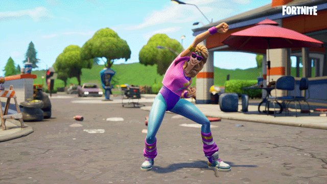 Get up and get active! The new Work It Out Emote is available now in the Item Shop.