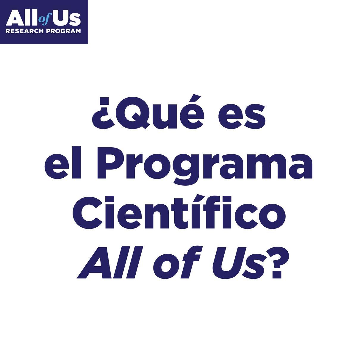 Image for the Tweet beginning: El Programa Científico All of