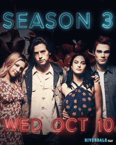 #Riverdale returns Wednesday, October 10 on The CW! Catch up: go.cwtv.com/RVRtw