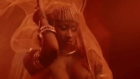 👑 @NICKIMINAJ is an ancient queen in her #GanjaBurn music video: ihr.fm/2PaJr30