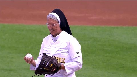Sister Mary Jo Sobieck stole the show on Saturday when she threw the ceremonial first pitch for the White Sox. cbsloc.al/2L9MNQA