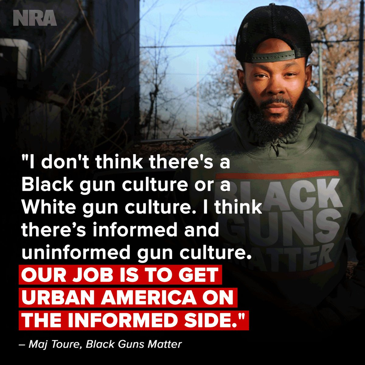 Meet @MAJTOURE, founder of #BlackGunsMatter. Motivated to change the negative stigma surrounding firearms in urban communities, Maj set out to educate people about the responsible use of firearms and the importance of fighting for the #2A. We are so grateful for the work he does.
