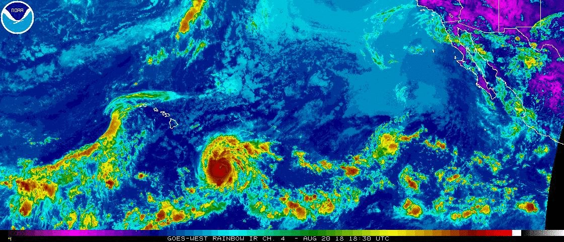 #Hurricane #Lane a powerful storm with 130 mph winds moving W at 12 mph could bring significant impacts to the southern shores of the Hawaiian Islands late week into the weekend as it veers to the NW
