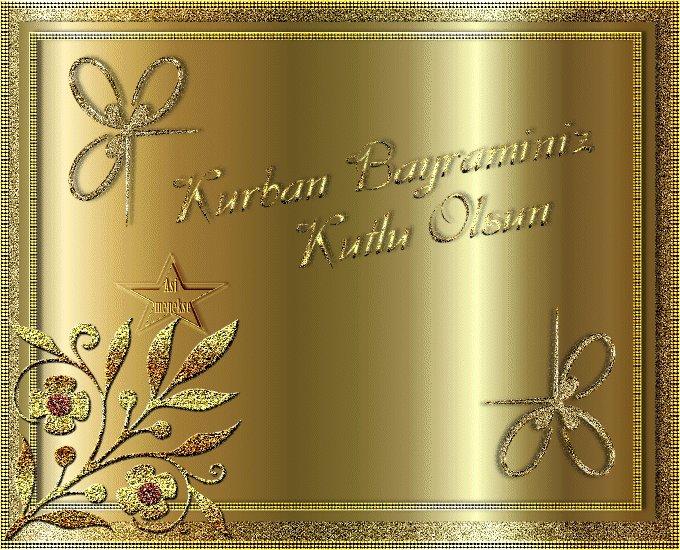 Открытка с днем курбан-байрам на азербайджанском, надписями