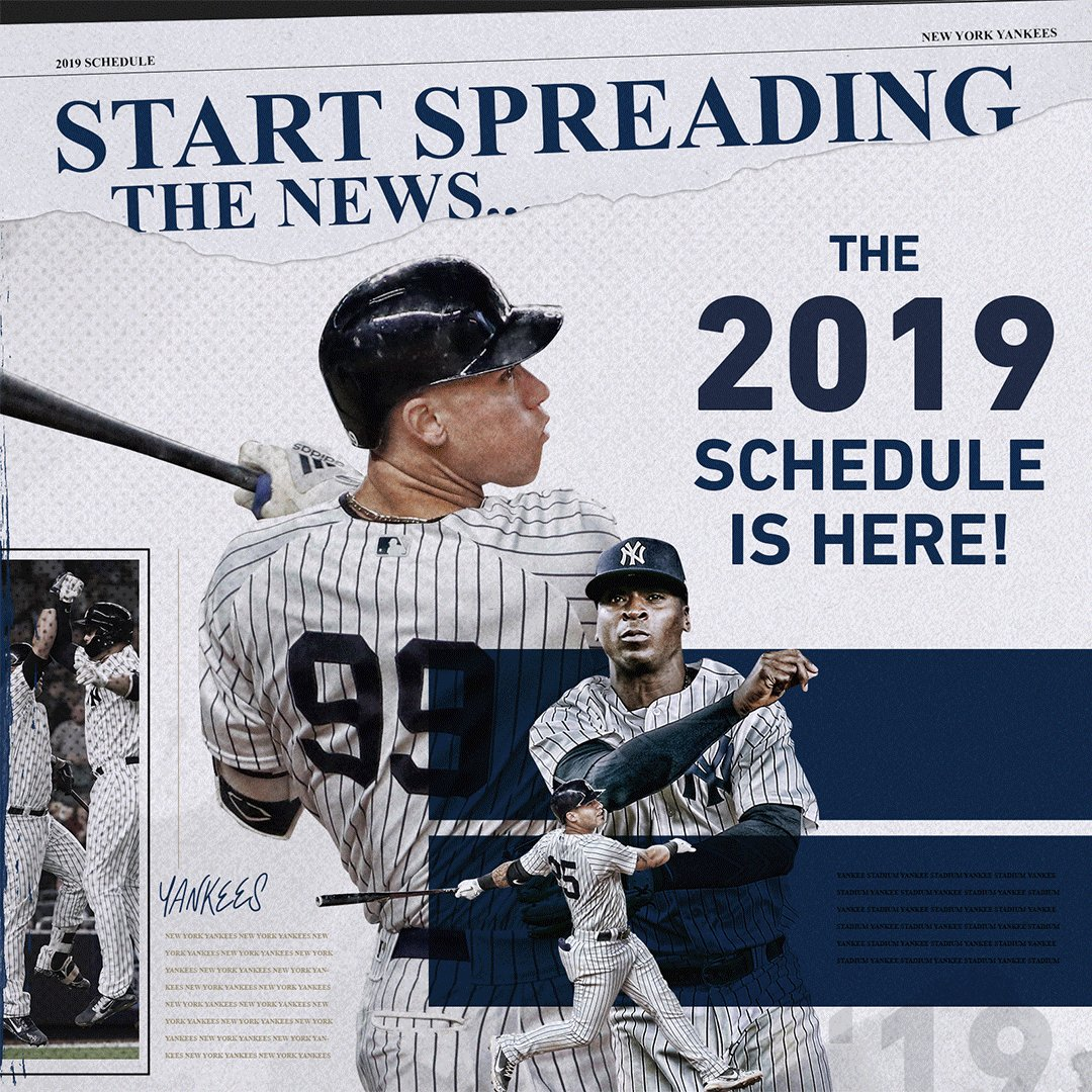 2019 schedule is here! mlb com/yankees/schedu… https://t co
