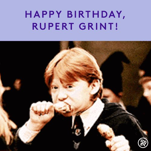 Happy birthday Rupert Grint I love you