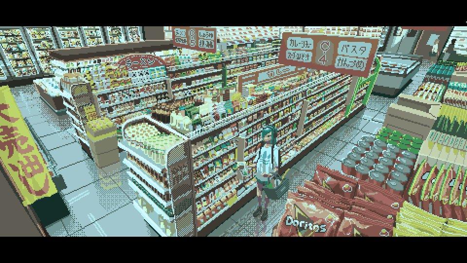 RT @moot_sai: #pixelart #ドット絵 スーパーマーケット https://t.co/lz0eAXRHST