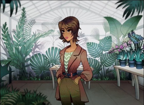 In case you missed her introduction earlier, heres Finley Flores! Shes a world traveler, who might be getting tired of living out of a suitcase. #thewindowbox #visualnovel #indiedev #vndev