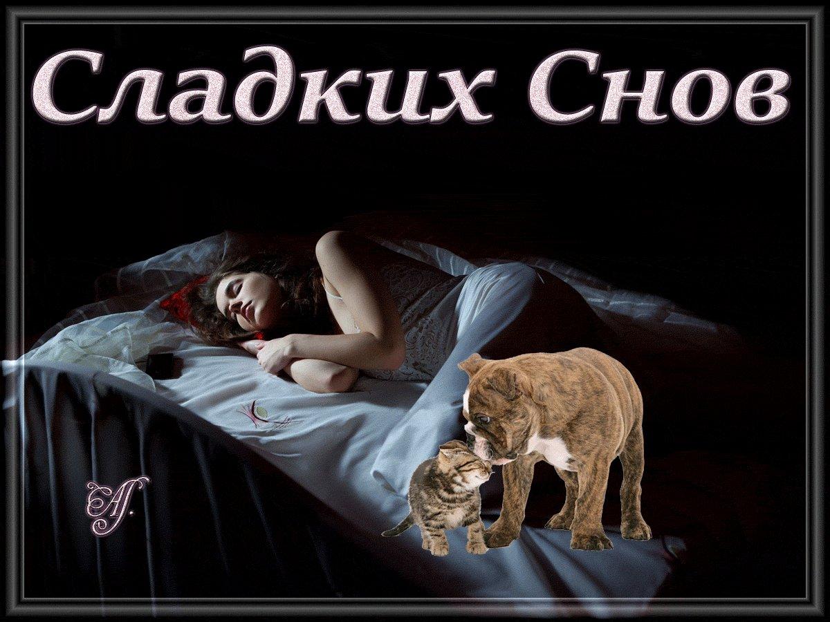 Доброй ночи сладких снов красивые картинки анимация любимой девушке