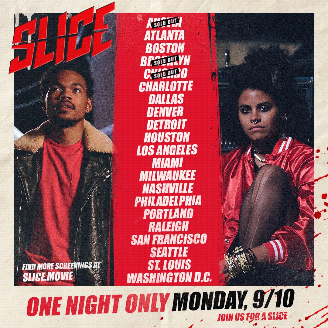 Grab em while they're hot ♨️#SLICE premiere party in 21 cities next monday! Tickets at slice.movie