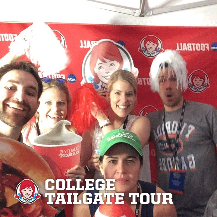 We out here! Celebrating #CollegeFootball with @Wendys, the Official Hamburger of the NCAA.