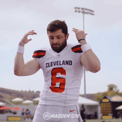 When they tell you to bring home the W! #Browns #Madden19