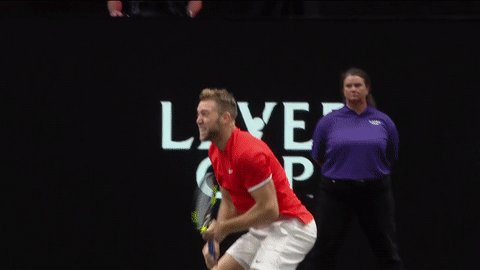 What taking an 8 points to 7 lead at #LaverCup looks like. @JackSock