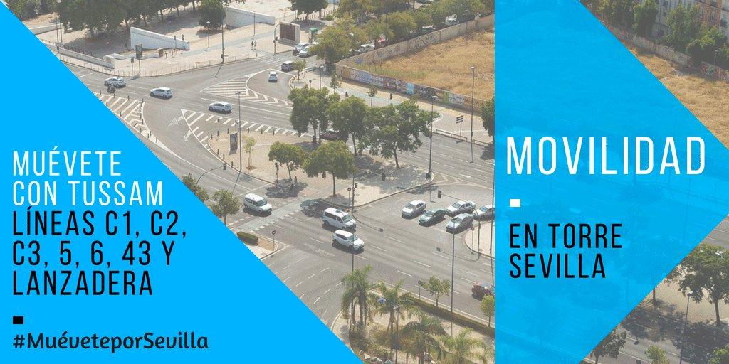 #MuéveteporSevilla a @sevillatorre en 🚲 🚶♂️ 🚍 🚖 🅿 🛵 🚍 Todos los fines de semana, refuerzo de #Tussam para llegar a @CCTorreSevilla