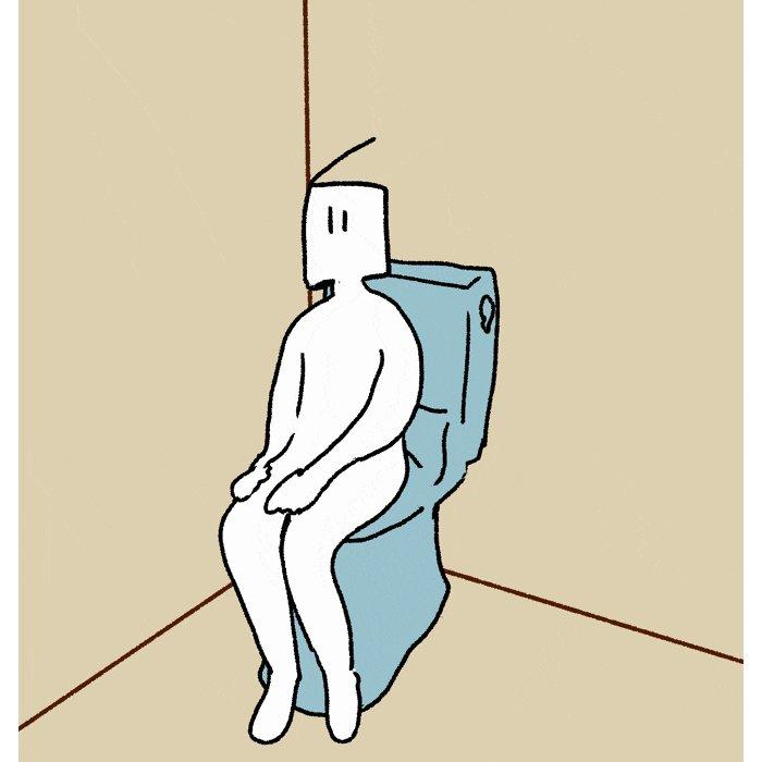 トイレの電気センサーに嫌われている