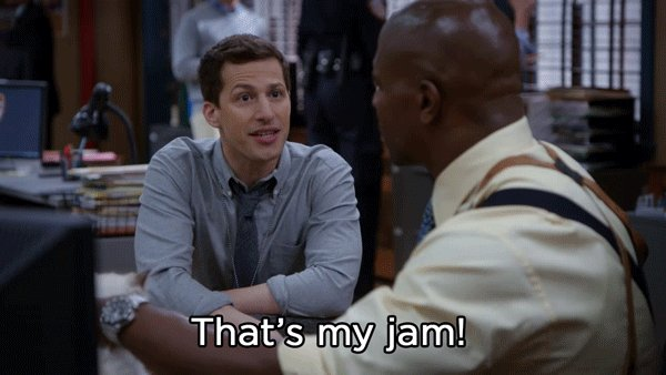 Locals really don't understand that power the @nbcbrooklyn99 's theme song has