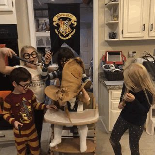 She's like forget y'all.. THIS IS MY HOUSE 😂 #ohwren #sortinghat #harrypotter @jk_rowling @HarryPotterFilm