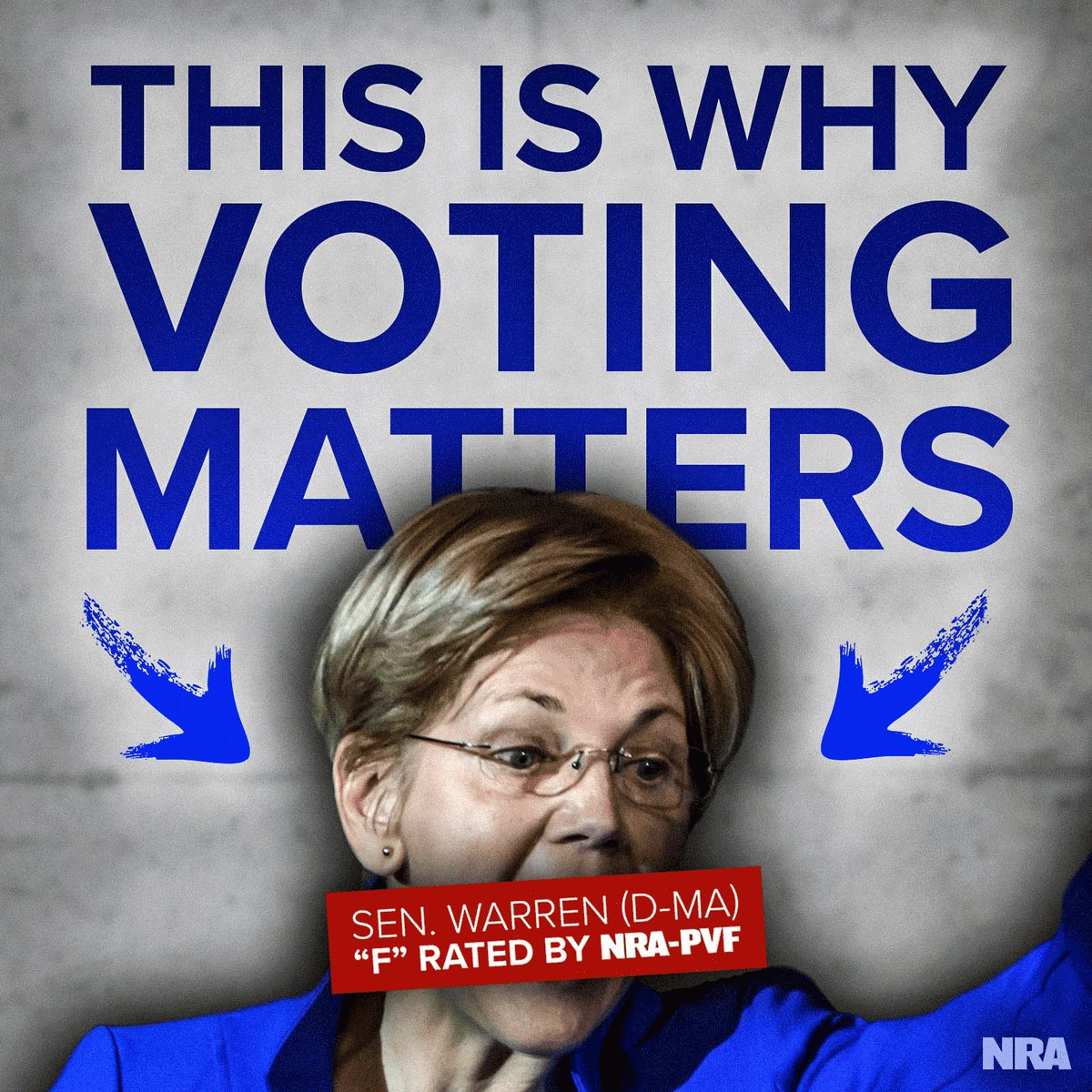 We know it is hard to believe, but voters elected Sen. Warren to the U.S. Senate in 2012. Sen. Warren has a long history of supporting anti-gun legislation and misleading people. Visit NRAPVF.org to find out who will defend your rights before heading to the polls!