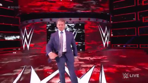 Behold the strut. @VinceMcMahon is HERE LIVE on #SD1000!
