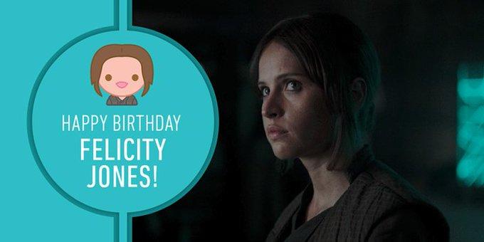 Join us in wishing Felicity Jones a very happy birthday!