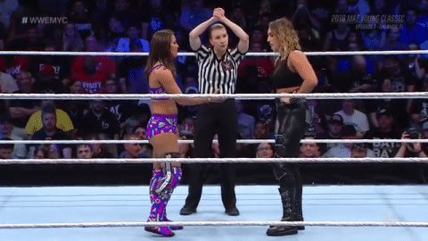 Handshake? Not a chance, @TeganNoxWWE_. #WWEMYC