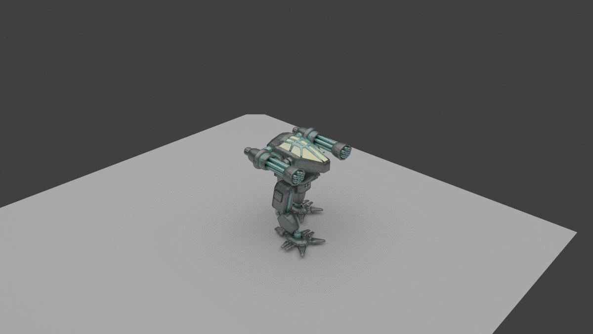 Image for the Tweet beginning: tweaked my Mech walking animation