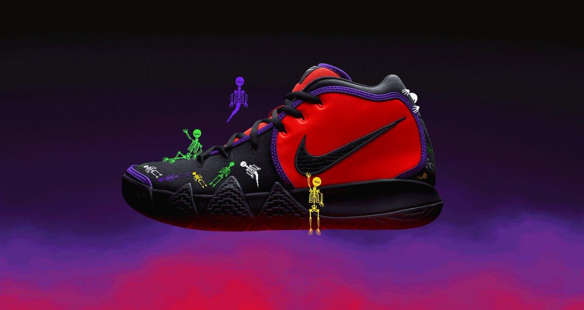 Bone chilling. 💀🏀 #Nike Kyrie 4