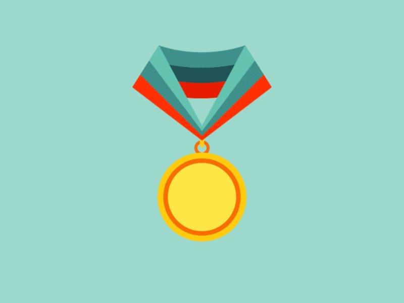 Скорбим, золотая медаль гифка