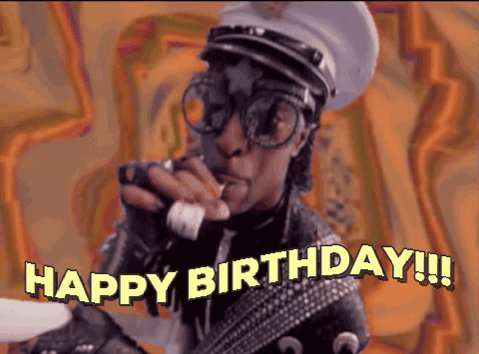 Good morning, I want 2 wish Bootsy Collins a Happy Birthday 2day.