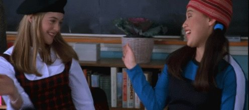 Omg when you find out there is gonna be a #Clueless remake!!! So excited😃😃😃