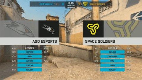 8-7 half for @AGOesports on Dust 2! #ESLProLeague live.proleague.com/csgo