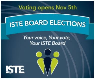 Remember to vote for the next #ISTEBoard of Directors: iste.org/about/elections