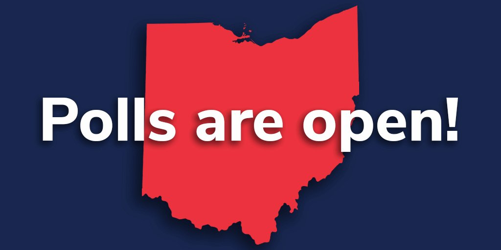 It's #ElectionDay and the polls are open! You can vote today until 7:30 pm. Please make your voice heard today -- this election is way too important to sit out! #GoVoteOH