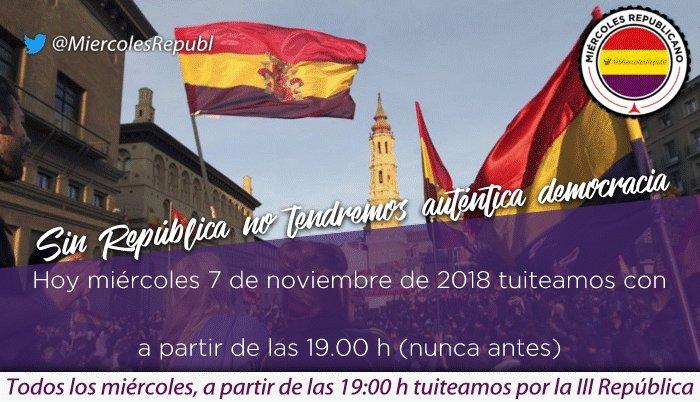 Hoy tuiteamos por la III República ❤💛💜 Si quieres cambios participa #LaRepúblicaPronto