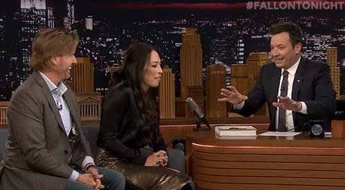 .@chipgaines and @joannagaines are here! #FallonTonight