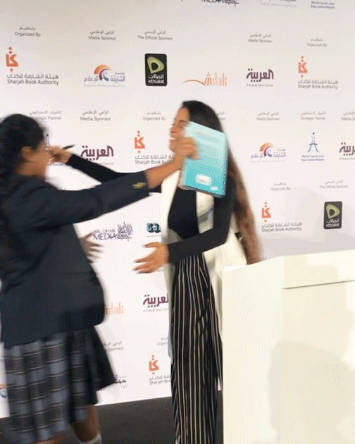 There was so much #GirlLove at #SIBF18 this week! 💙📘 Thanks for all of the support, @Sharjahbookauth!