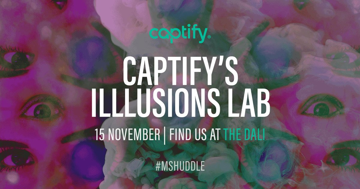 20 minute countdown until @Mindshare_uk's CEO, @helenmcrae tests the power of hypnosis at @Captify's Illusions Lab. You do not want to miss this!! #MSHuddle.