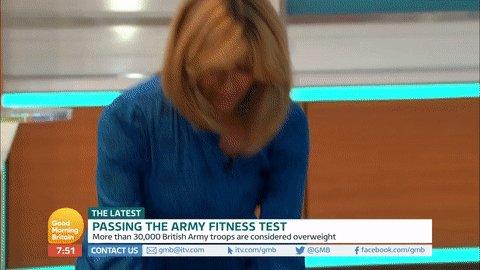 Do you even lift? Kate Garraway lifts 70kgs of potatoes in heels 💪