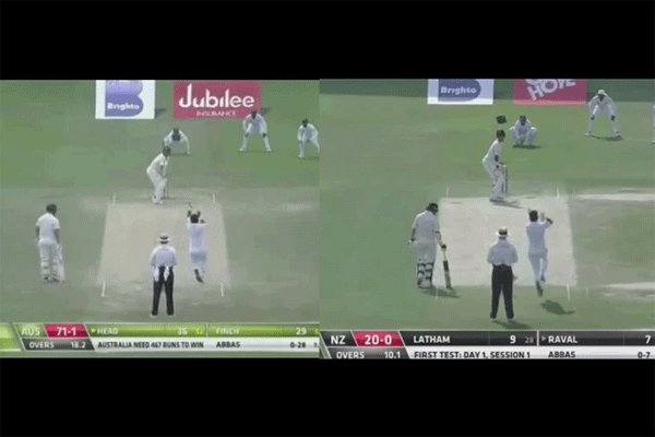 Close Enough: Abbas around the wicket to travis Head & Jeet Raval ... 🔥🔥🔥 https://t.co/1Dp6ksT6Al