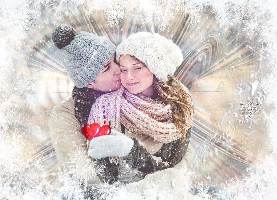 открытки снежинку поцелуй мальчик здоровым сильным