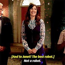Le dernier épisode de #TheGoodPlace m'a fait tomber amoureux de Janet encore plus que je ne l'étais déjà. https://t.co/TThcuHdH0v